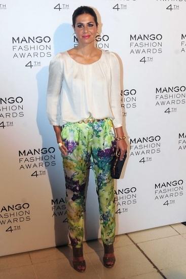 Foto Nuria Roca se apunta a la tendencia con los flower trousers