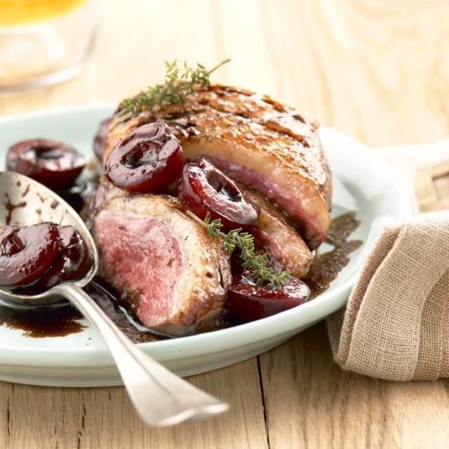 Foto Salsa de cerezas para acompañar carnes