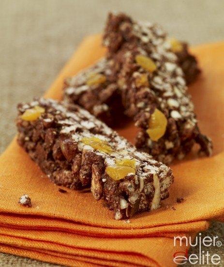 Foto Barritas de cereales con chocolate ¡qué buenas!