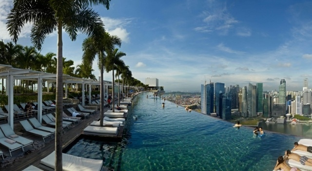 Foto Piscina del hotel Marina Bay Sands Singapore