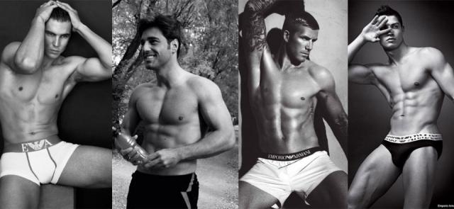 Foto Rafa Nadal, David Bustamante, David Beckham y Cristiano Ronaldo, lucen abdominales