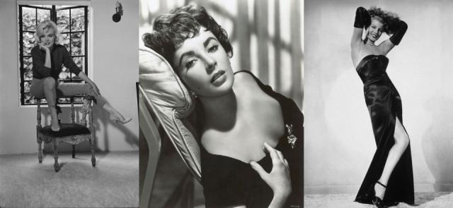 Foto Marilyn Monroe, Elizabeth Taylor y Rita Hayworth, referentes del look años 50