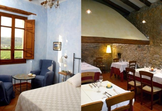 Foto Habitación y restaurante del hotel Castell de Gimenelles en Cataluña