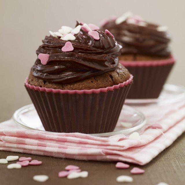 Foto Cupcakes de chocolate