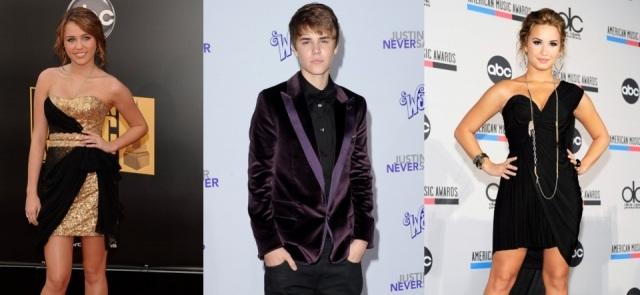 Foto Miley Cyrus, Justin Bieber y Demi Lovato tienen fobias