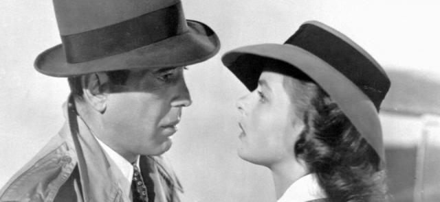 Foto Humphrey Bogart e Ingrid Bergman en Casablanca