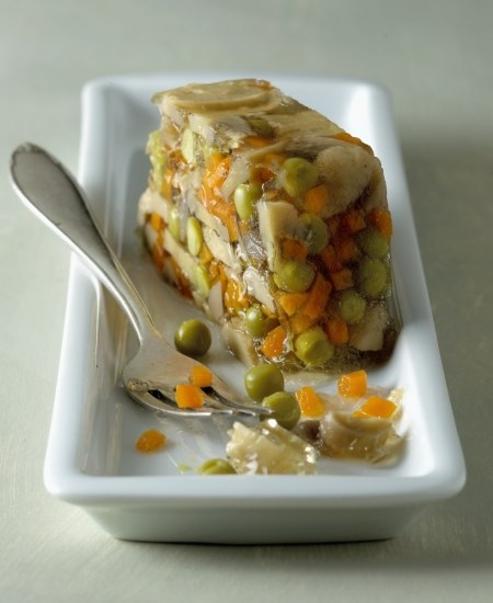 Foto Aspic de verduras bajo en calorías