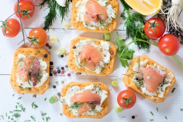 Foto Canapés de salmón ahumado, un clásico navideño
