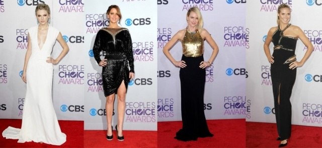 Foto Taylor Swift, Jennifer Lawrence, Naomi Watts y Heidi Klum en la entrega de los People´s Choice Awards 2013