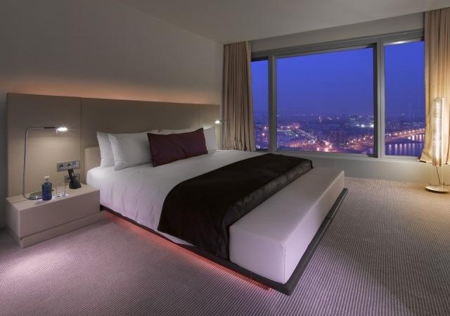 Foto Habitación del Hotel W en Barcelona con espectaculares vistas de la ciudad