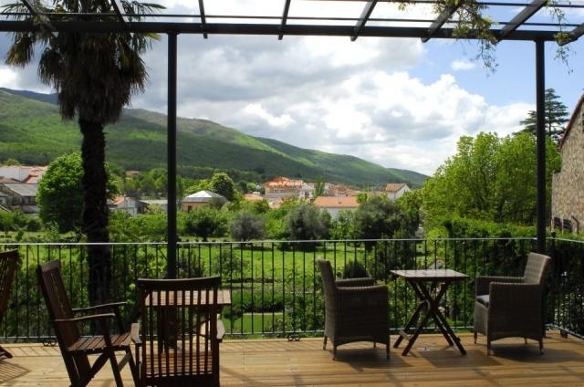 Foto Terraza desde la habitación del hotel El Jardín del Convento, Hervás, Cáceres