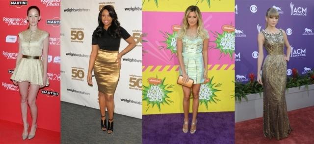 Foto Ana María Polvorosa, Kate Hudson, Ashley Tisdale y Taylor Swift se apuntan a la tendencia look metalizado