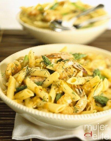 Foto Pasta y espárragos, una combinación sana y baja en calorías