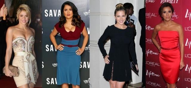 Foto Shakira, Salma Hayek, Elsa Pataky y Eva Longoria lucen trucos de moda para parecer más altas