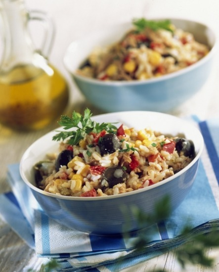 Foto Ensalada de arroz y maíz, receta sin gluten