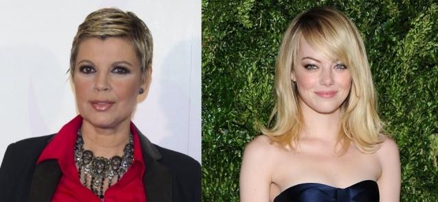 Foto Terelu Campos y Emma Stone, dos ejemplos de peinados para rejuvenecer