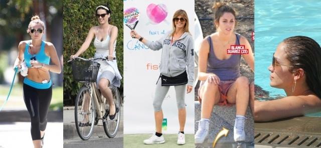 Foto Miley Cyrus, Katy Perry, Arantxa de Benito, Blanca Suárez y Jennifer López practican los deportes estrella para este verano