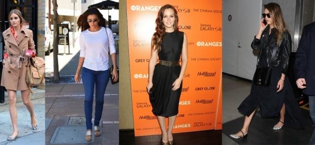 Foto Olivia Palermo, Eva Longoria, Leighton Meester y Jessica Alba llevan los básicos de temporada
