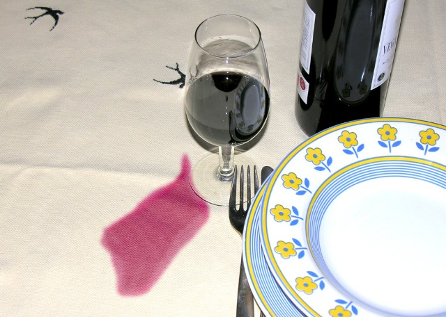 Foto Manchas de vino tinto
