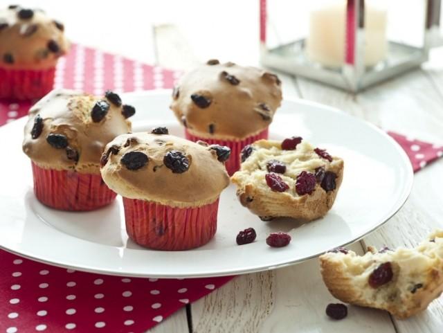 Foto Magdalenas o muffins de arándanos para Navidad