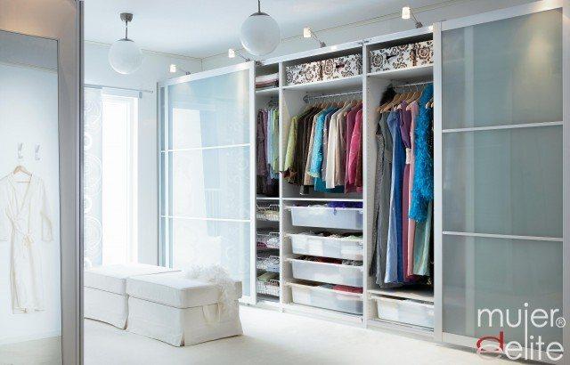 C mo organizar el armario para ahorrar espacio mujerdeelite - Cabine armadio moderne ikea ...