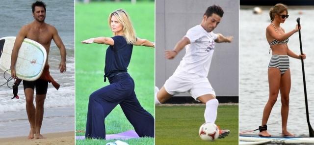 Foto Hugo Silva, Heidi Klum, David Bustamante y Taylor Swift practican deporte para mantener sus cuerpazos