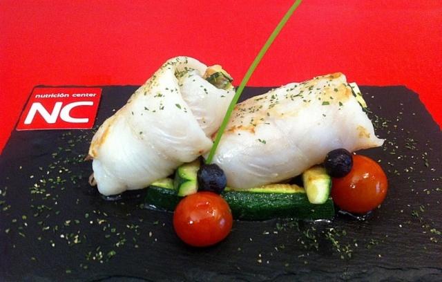 Foto Rollitos de lenguado con calabacín y jamón ibérico, un segundo plato nutritivo y ligero para el Día del Padre