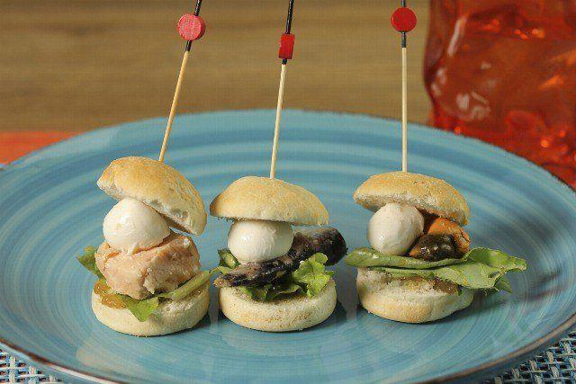 Foto Mini hamburguesas marineras