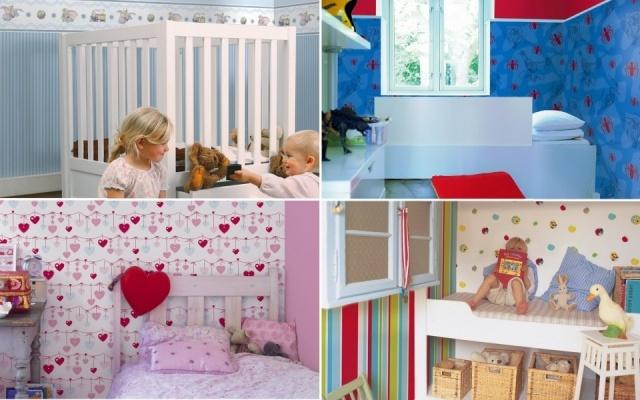 Trucos decorativos fciles con papel pintado para - Papel para habitaciones ...