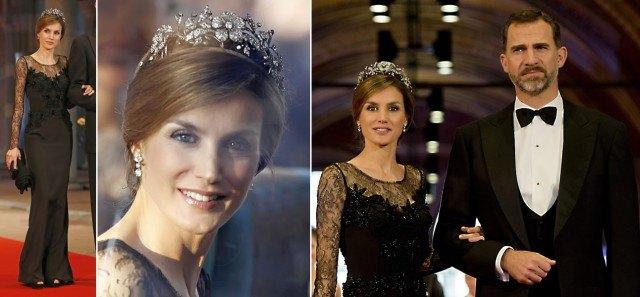 Foto Doña Letizia vuelve a lucir el vestido de la cena previa a la coronación de Guillermo Alejandro y Máxima de Holanda