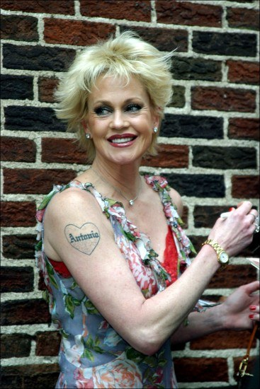 Foto Melanie Griffith y su Antonio tatuado