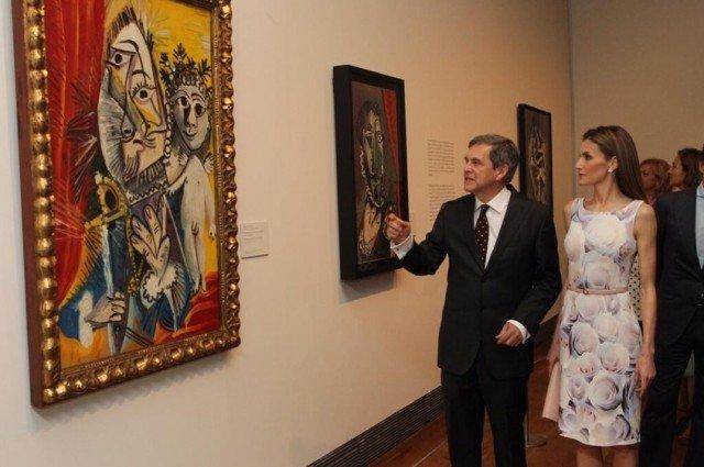 Foto Doña Letizia en su primer acto en solitario como Reina, apoya el arte en nuestro país