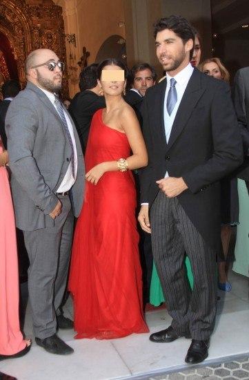 Foto Kiko Rivera, Cayetana Rivera y Cayetano Rivera, en la boda religiosa de Francisco Rivera y Lourdes Montes
