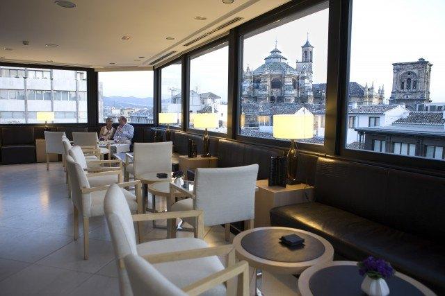 Foto Terraza mirador del hotel Fontecruz de Granada