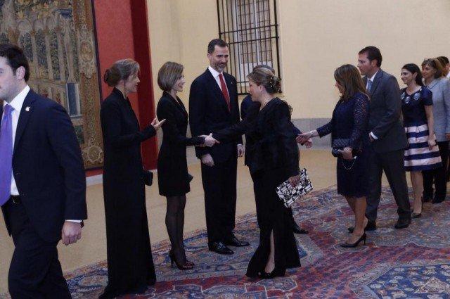 Foto Don Felipe y doña Letizia, en la recepción ofrecida por el presidente de Colombia en el Palacio de El Pardo