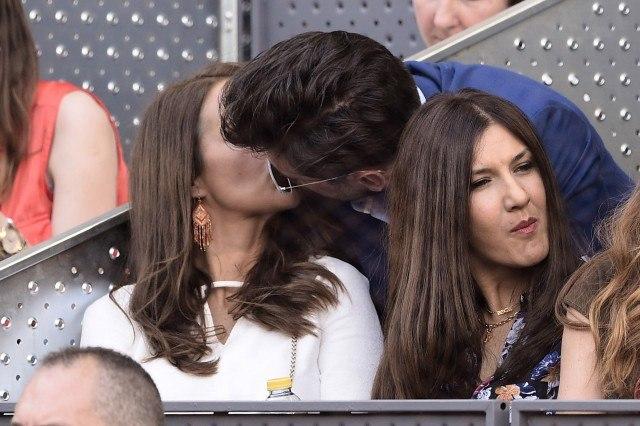 Foto David Bustamante y Paula Echevarría se besan con pasión en la final del Mutua Madrid Open