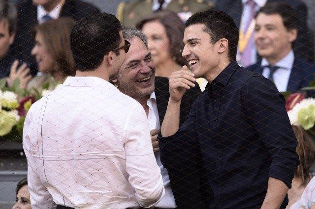 Foto Miguel Ángel Silvestre, José Coronado y Álex González en la final del Mutua Madrid Open