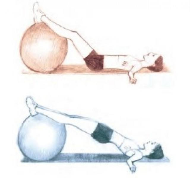Foto Con el fitball puedes ejercitar los glúteos con diferentes ejercicios