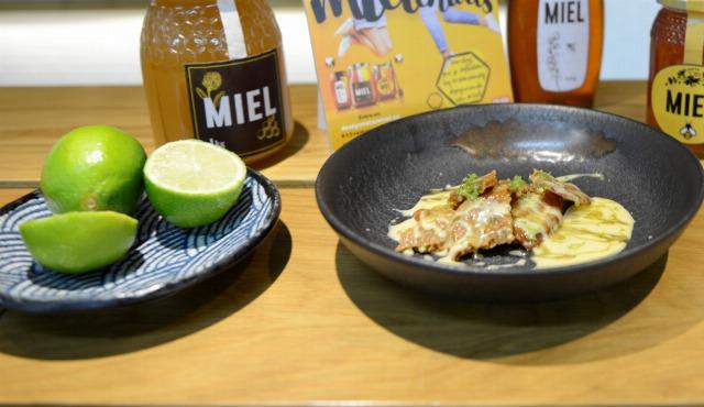 Foto Crocantis de miel y canela con relleno de lemon curd