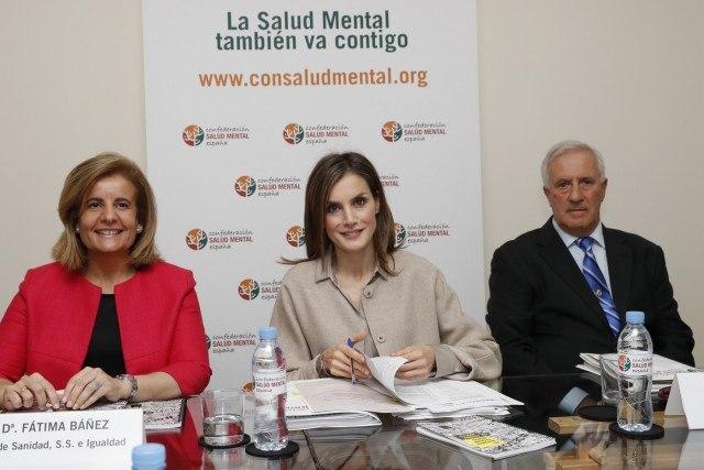 Foto La reina Letizia durante su reunión en la sede de la Confederación Salud Mental España