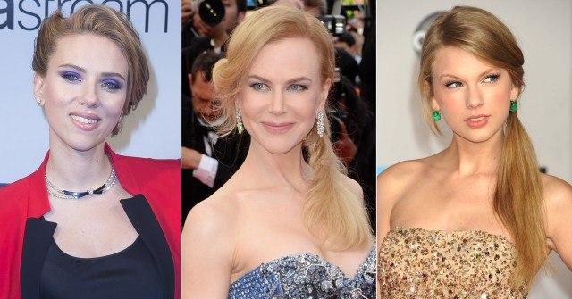 Foto Scarlett Johansson, Nicole Kidman y Taylor Swift, ejemplos de rostros diamante
