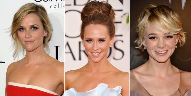 Foto Reese Witherspoon, Jennifer Love Hewitt y Carey Mulligan, ejemplos de rostros triángulo