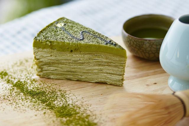 Foto Cake de té matcha