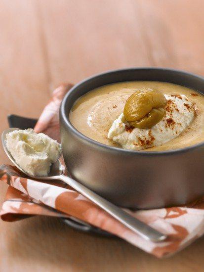 Foto Crema de castañas paso a paso para tus menús de otoño e invierno