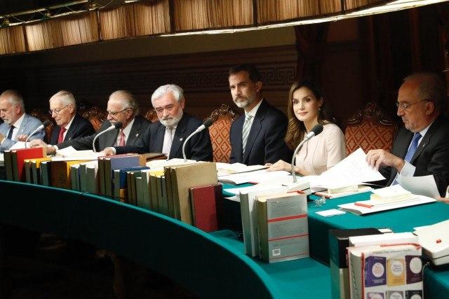 Foto Don Felipe y doña Letizia durante la reunión del Pleno de la Real Academia Española