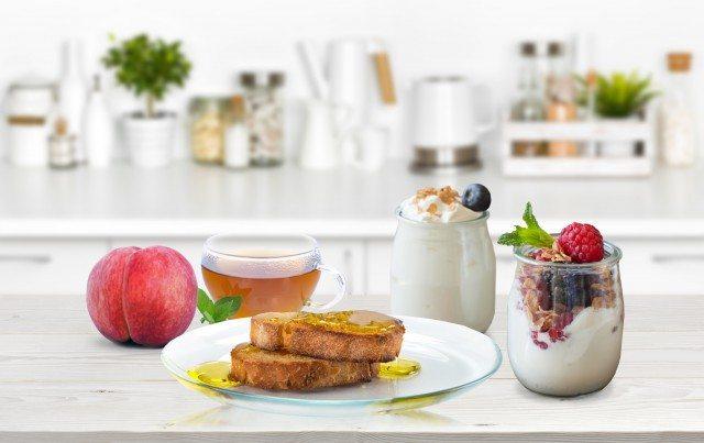 Foto Desayuno sano y rápido con yogur para no complicarse