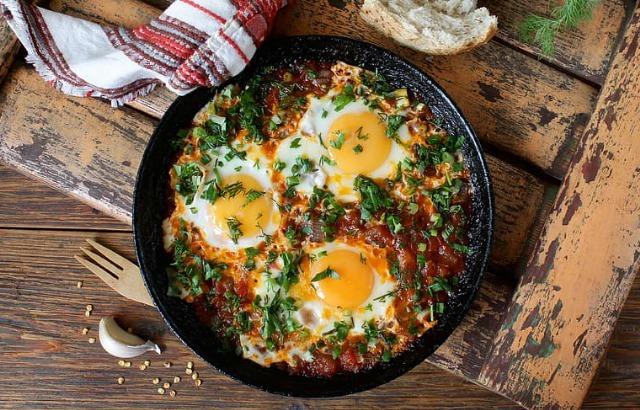 Foto Huevos al plato