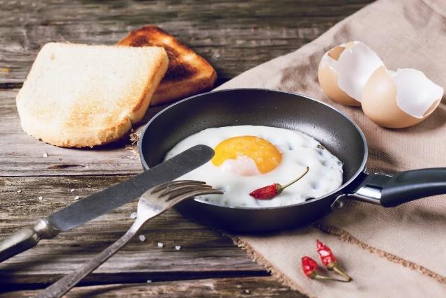 Foto Huevos fritos para gourmets