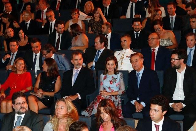 Foto Don Felipe y doña Letizia en el auditorio del nuevo Palacio de Congresos de Palma de Mallorca