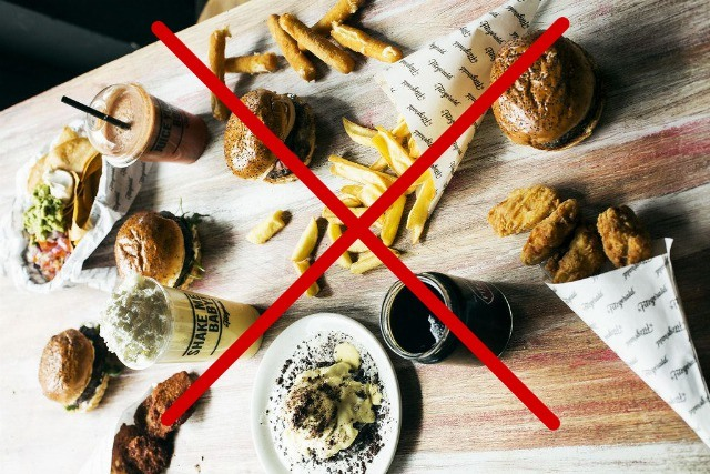 Foto Los alimentos prohibidos en la dieta Perricone
